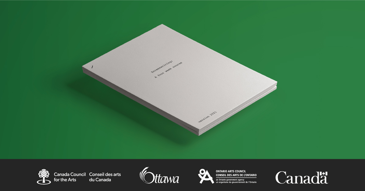 A paper script against a green background